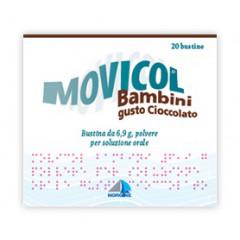 MOVICOL BAMBINI 6,9 G, POLVERE PER SOLUZIONE ORALE, GUSTO CIOCCOLATO