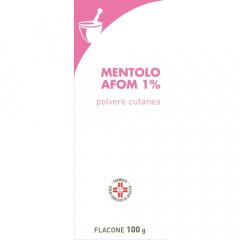 MENTOLO FARMAKOPEA 1% POLVERE CUTANEA