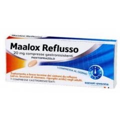 MAALOX REFLUSSO 20 MG COMPRESSE GASTRORESISTENTI