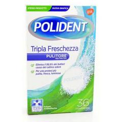 POLIDENT TRIPLA FRESCHEZZA 36 COMPRESSE